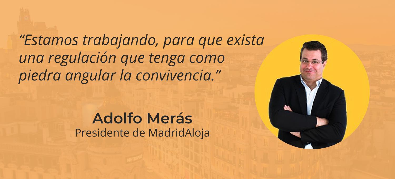 El alquiler turístico en Madrid HOY – Entrevista a Adolfo Merás, presidente de MadridAloja